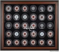 Washington Capitals 30-Puck Brown Display Case