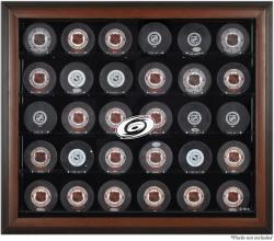 Carolina Hurricanes 30-Puck Brown Display Case - Mounted Memories