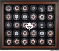 Toronto Maple Leafs 30-Puck Brown Display Case