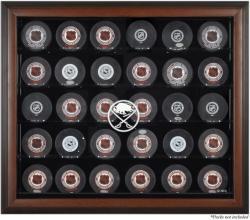 Buffalo Sabres 30-Puck Brown Display Case