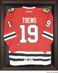 Chicago Blackhawks Brown Framed Logo Jersey Display Case -