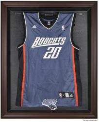 Charlotte Bobcats Brown Framed Jersey Display Case - Mounted Memories