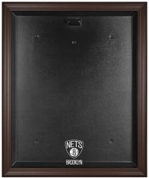 NBA Brooklyn Nets Brown Framed Logo Jersey Display Case - Mounted Memories
