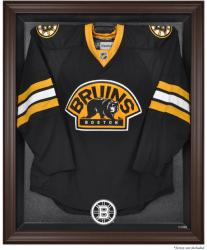 Boston Bruins Brown Framed Logo Jersey Display Case - - Mounted Memories
