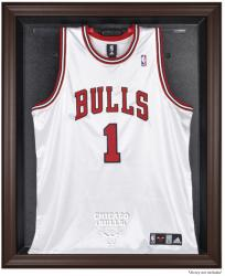Chicago Bulls Brown Framed Jersey Display Case