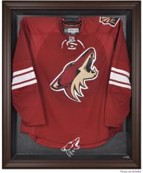 Phoenix Coyotes Brown Framed Logo Jersey Display Case - Mounted Memories