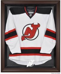 New Jersey Devils Brown Framed Logo Jersey Display Case -