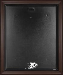 Anaheim Ducks Brown Framed Logo Jersey Display Case - Mounted Memories