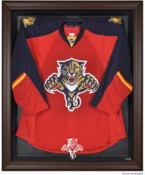 Florida Panthers Brown Framed Logo Jersey Display Case