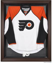 Philadelphia Flyers Brown Framed Logo Jersey Display Case - Mounted Memories