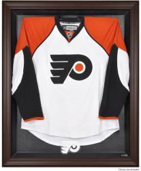 Philadelphia Flyers Brown Framed Logo Jersey Display Case