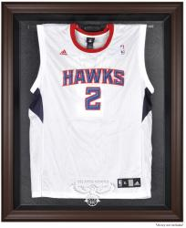 Atlanta Hawks Brown Framed Jersey Display Case - Mounted Memories