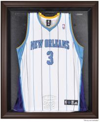 New Orleans Hornets Brown Framed Jersey Display Case - Mounted Memories