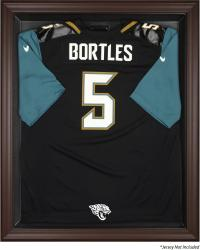 Jacksonville Jaguars Brown Framed Jersey Display Case