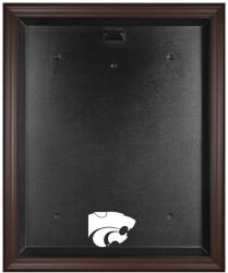 Kansas State Wildcats Brown Framed Logo Jersey Display Case - Mounted Memories