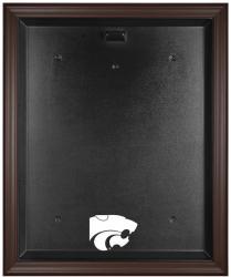 Kansas State Wildcats Brown Framed Logo Jersey Display Case