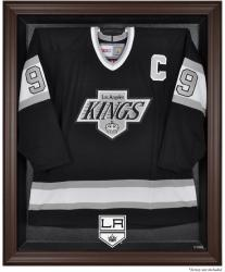 Los Angeles Kings Brown Framed Logo Jersey Display Case - Mounted Memories