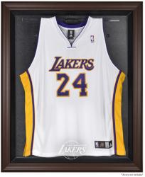 Los Angeles Lakers Brown Framed Jersey Display Case