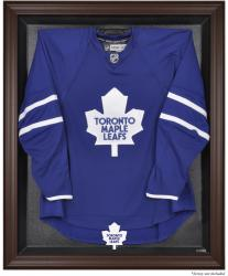 Toronto Maple Leafs Brown Framed Logo Jersey Display Case - Mounted Memories