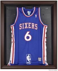 NBA Logo Brown Framed Jersey Display Case