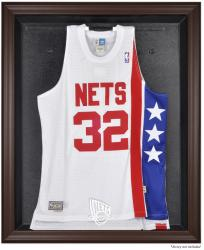 New Jersey Nets Brown Framed Jersey Display Case - Mounted Memories