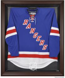 NHL Shield Brown Jersey Display Case - Mounted Memories