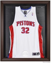 Detroit Pistons Brown Framed Jersey Display Case - Mounted Memories