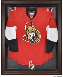 Ottawa Senators Brown Framed Logo Jersey Display Case - Mounted Memories