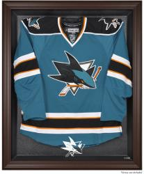 San Jose Sharks Brown Framed Logo Jersey Display Case - Mounted Memories