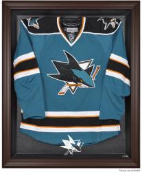 San Jose Sharks Brown Framed Logo Jersey Display Case