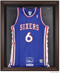 Philadelphia 76ers Brown Framed Jersey Display Case - Mounted Memories