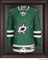 Dallas Stars Brown Framed Logo Jersey Display Case - Mounted Memories