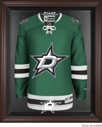 Dallas Stars Brown Framed Logo Jersey Display Case