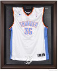 Oklahoma City Thunder Brown Framed Jersey Display Case - Mounted Memories
