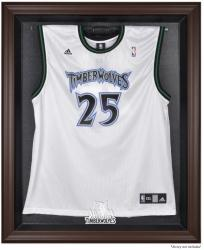 Minnesota Timberwolves Brown Framed Jersey Display Case - Mounted Memories