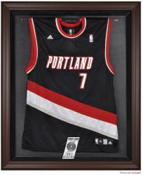 Portland Trail Blazers Brown Framed Jersey Display Case - Mounted Memories