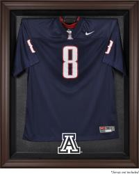 Arizona Wildcats Brown Framed Logo Jersey Display Case