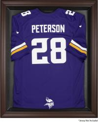 Minnesota Vikings Brown Framed Jersey Display Case