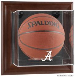 Alabama Crimson Tide Brown Framed Wall-Mountable Basketball Display Case - Mounted Memories