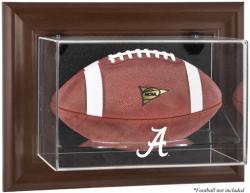 Alabama Crimson Tide Brown Framed Wall-Mountable Football Display Case