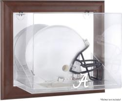 Alabama Crimson Tide Brown Framed Wall-Mountable Helmet Display Case