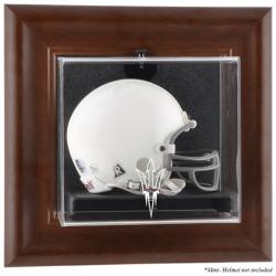 Arizona State Sun Devils Brown Framed Logo Wall-Mountable Mini Helmet Display Case