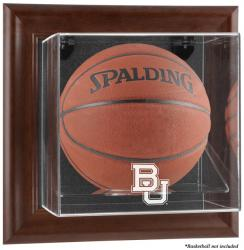 Baylor Bears Brown Framed Logo Wall-Mountable Basketball Display Case