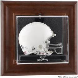 Brown Bears Brown Framed Wall-Mountable Logo Mini Helmet Display Case