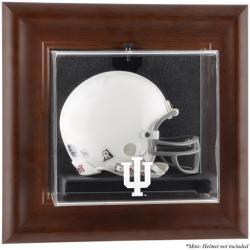 Indiana Hoosiers Brown Framed Wall-Mountable Mini Helmet Display Case