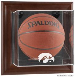 Iowa Hawkeyes Brown Framed Wall-Mountable Basketball Display Case
