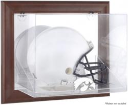 Iowa Hawkeyes Brown Framed Wall-Mountable Helmet Display Case