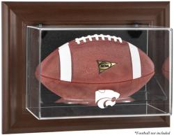 Kansas State Wildcats Brown Framed Wall-Mountable Football Display Case - Mounted Memories