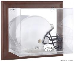 Kansas State Wildcats Brown Framed Wall-Mountable Helmet Display Case - Mounted Memories