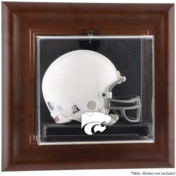 Kansas State Wildcats Brown Framed Wall-Mountable Mini Helmet Display Case - Mounted Memories